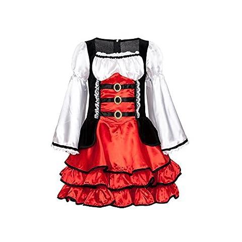 Kostümplanet® Piratenkostüm für Mädchen Kinder Kostüm Piraten Kleid Größe 140