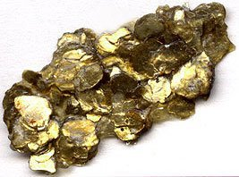 Golden Heavy Body Iridescent Acrylics - Gold Mica Flake Large - 8oz Jar by Golden Artist Colors -