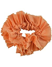 Sarah Coral Peach Soft Fabric Hair Rubber Band For Ponytail Big Rubber Band Hair Accessories