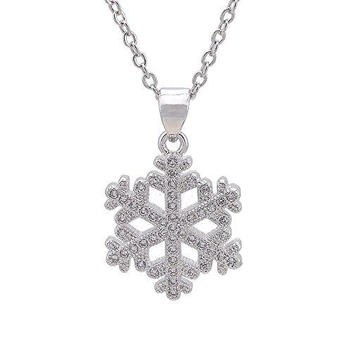 er Halskette für women-cheerslife Silber Cubic Zirkonia Diamant Lovely Weihnachten Geschenk (Cute Mutter Und Tochter Kostüme)
