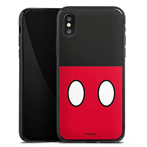 Apple iPhone X Silikon Hülle Case Schutzhülle Disney Mickey Mouse Hosen Geschenke Merchandise Silikon Case schwarz