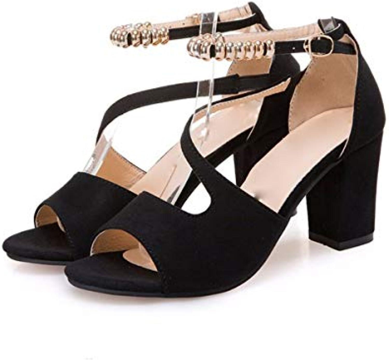 kphy des chaussures sandales mère / sandales été milieu milieu milieu talons d'épaisseur des talons des femmes d'âge moyen maFemme talons 6 cm b07g4g6knm parent 5c9c6f