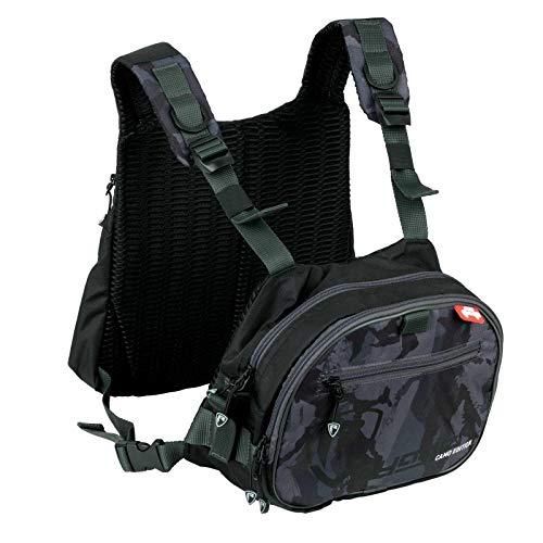 Fox Rage Camo Tackle Vest - Kunstködertasche für Gummifische & Hardbaits, Angeltasche zum Spinnfischen, Tackletasche für Wobbler