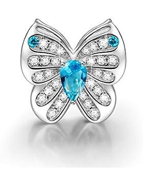 NinaQueen - Schmetterlings-Traum - Damen-Charm Anhänger 925 Sterling Nickelfrei Beads
