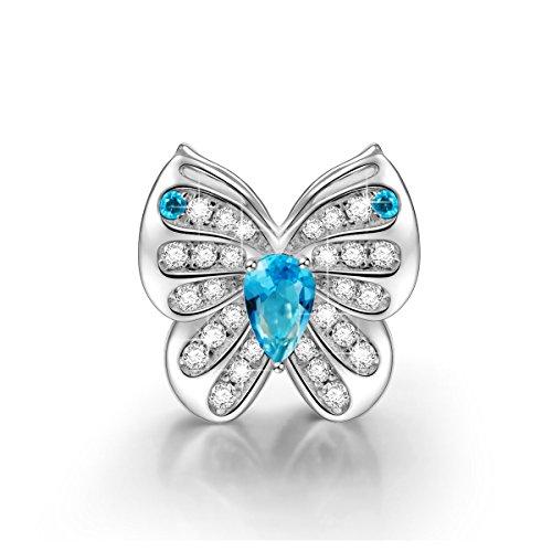 NinaQueen Mariposa Abalorio de mujer de plata de ley Charms beads fit Pandora pulseras