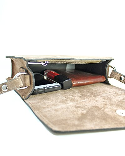 5f59cee056d3 ... ImiLoa Ledertasche klein schwarz braun blau grau Lederhandtasche  Umhängetasche echt Leder Tasche Wildleder Handtasche Dunkelblau ...