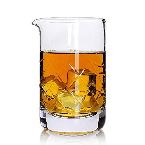 Rührglas, Kristallglas, 570 ml, Premium Bar Mixing Glas, professionelle Qualität 20 OZ farblos Crystal-martini-cocktail