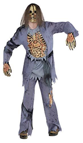 (Fancy Me Gruseliger Gruseliger Zombie Dead Corpse Halloween Kostüm Kostüm Outfit STD XL)