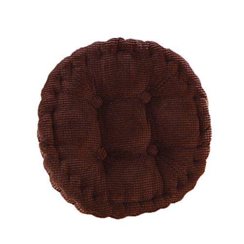 Generic Rund Baumwolle Komfort waschbar Stuhl Sitzkissen Polster Tatami Kissen Für Haus Auto Büro , 40x10 cm - Braun, 40X10cm - Dampfer-stuhl-kissen