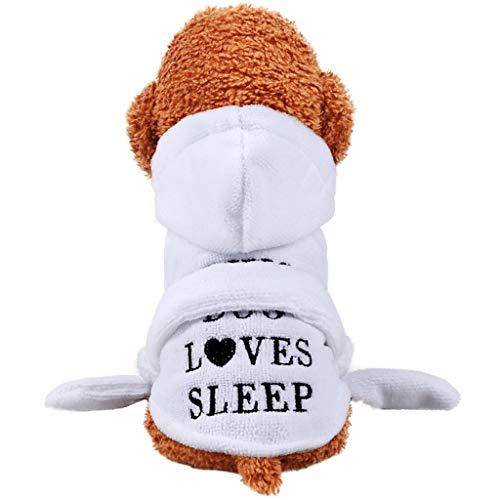 BT Bear® Haustier Bademantel Mantel weich warm Haustier Pyjama schnell trocknend Welpen Bademantel Mantel Herbst Winter Mäntel Kostüm für Katzen Welpen Kleine Hunde mittelgroße Hunde -