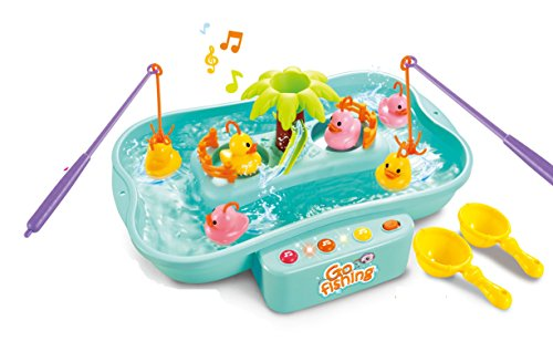 Toyshine Fish Catching Game with Fishes, Ducks, Music, Melodies and Lights, Blue