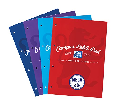oxford-campus-a4-300-pages-refill-pad-assorted-colours-pack-of-3
