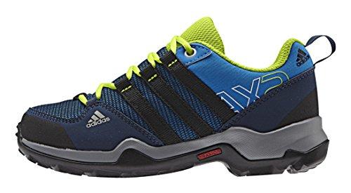 adidas Unisex-Kinder Ax2 Cp Trekking-& Wanderstiefel Blau (Shock Blue S16/Core Black/Semi Solar Slime)