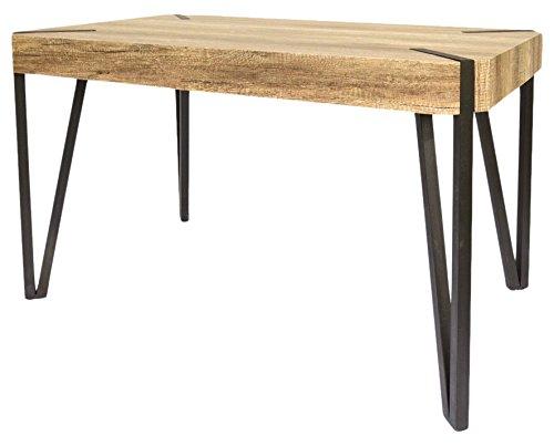 Tuoni cooper tavolo, legno multistrato/metallo, rovere tartufo/metallo verniciato nero, 130x80x75 cm