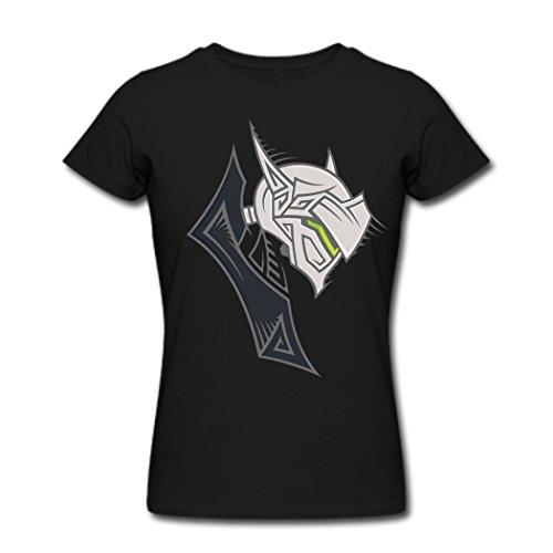 Overwatch Reinhardt Iconic Da donna tshirt stile xxxx-l Black M