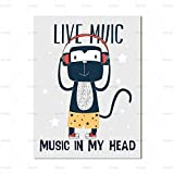No Frame Nordic NG Canvas Wall Art Cartoon Monkey Poster e Stampe Wall re for Baby Room NG Art Home decoration40x60cm