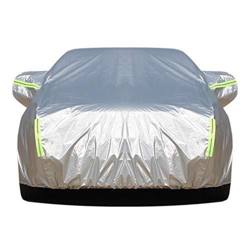 KJJL-CR Autoabdeckung, Ganzjahres-Oxford-Tuch-Kleidung Plus samt verdickender Regen und Schnee Anti-Frost-Sonnenschutz-Auto-Abdeckung, mit dem reflektierenden Sicherheitsstreifen,XL