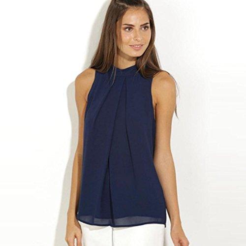 Zolimx Frauen Beiläufige Chiffon Bluse ärmellos T-Shirt Sommer Tops (M) (Bhs Fringe)
