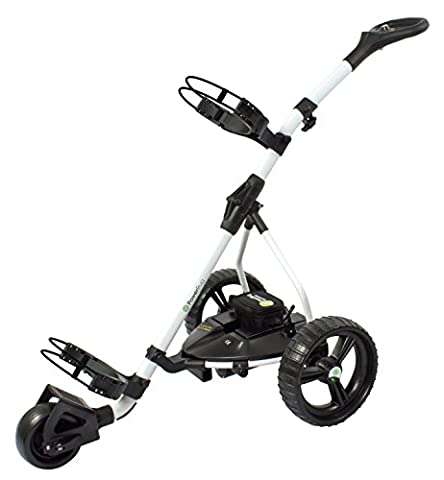Powerbug White GT Lihium Electric Golf Trolley plus Free Umbrella Holder, Accessory Dock and Sherpashaw Divot Tool