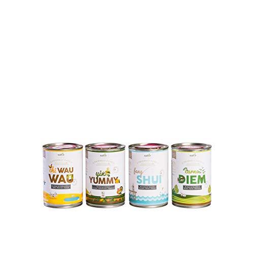 naftie Bio Hundefutter Schnupperbox Friendly Food 8 x 150g Beutel Nassfutter Menüs mit Fleisch Obst & Gemüse glutenfrei (8 x 150g)