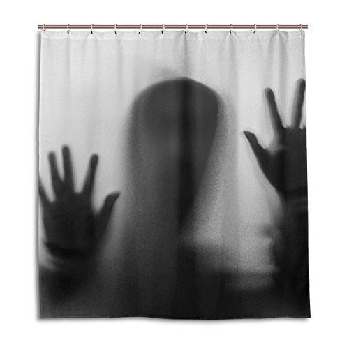 und unscharf Silhouette Shadow Duschvorhang 167,6x 182,9cm, schimmelresistent & Wasserdicht Polyester Deko Halloween Bad Vorhang, Polyester, Silhouette-2, 66 x 72 (Scary Halloween-silhouetten)