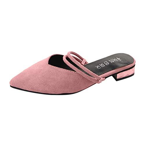 Sandalen Damen Sommer Sannysis Frauen Casual Point Toe Sandalen Arbeitsschuhe Damen Square Heel Loafers Schuhe Party Sandaletten Hausschuhe Bequeme Schuhe