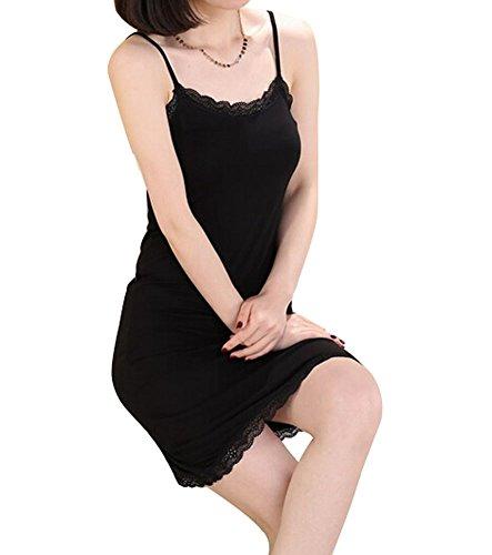 Fond de robe réglable en modal Noir Taille unique