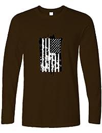 Tim and Ted American Flag Skulls Bombe Stati Uniti Disegno Stampato Logo  Manica Lunga 230f33d3cb00