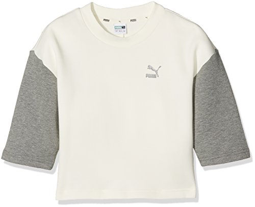 Puma Kinder Evo Crew Sweat Mantel, Marshmallow, 152 (Locker Mantel Kinder)