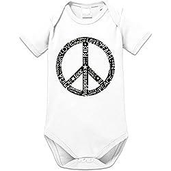 Body bebé Peace Sign Typo by Shirtcity