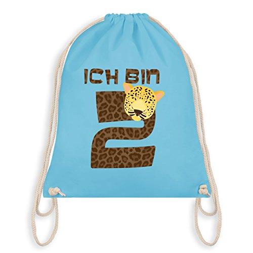 Birthday Kid - Im 2 Leopard - Borsa Da Ginnastica I Gym Bag Blu Chiaro