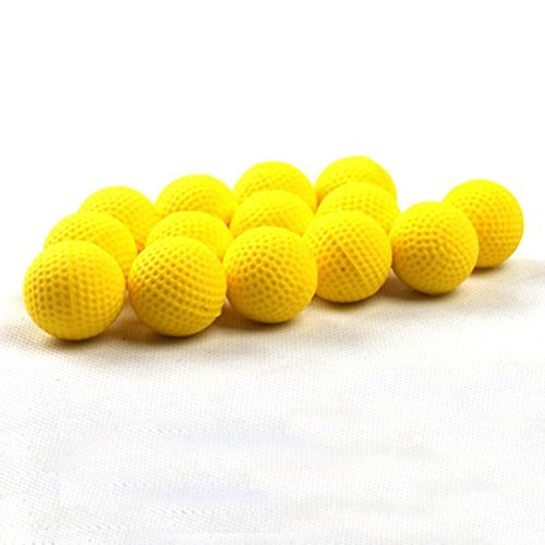 Matoen 50Pcs Bullet Balls Rounds Compatible For Nerf Rival Apollo Child Toy (Yellow)