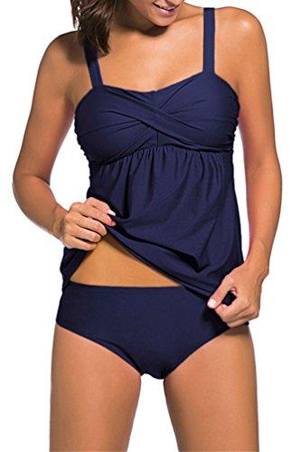 OLIPHEE Mujeres Sexy Push-up Bikini 2 Piezas Ruching
