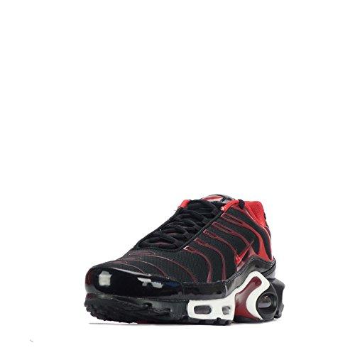 NIKE AIR MAX PLUS Herren Laufschuhe 852630 Turnschuhe Black/University Red/Team Red