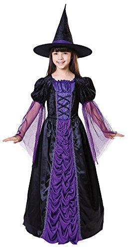 7Prinzessin Hexe Kleid, schwarz/violett, Large (Dance School Girl Kostüme)