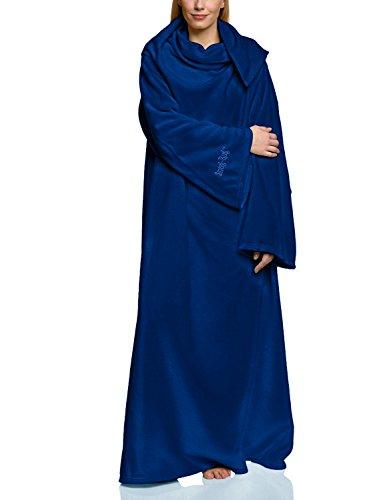 Ärmel Bett Jacke (Snug Me Lite 260g pro m² Fleecedecke mit Ärmeln, Kuschelige Wohndecke mit den Maßen: 152 cm x 213 cm, Farbe: Dunkel Blau)
