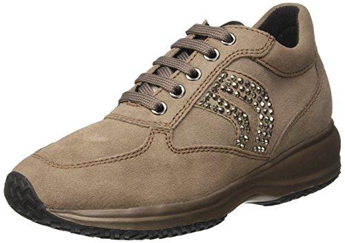 Geox Happy C, Zapatillas Bajas Atléticas Para Mujer Beige (taupe)