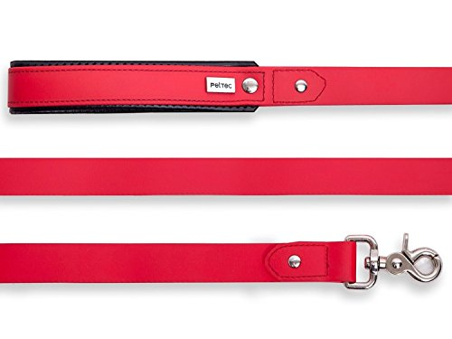 pettec-lead-line-2m-made-of-trioflex-tm-red-weatherproof-water-resistant-robust-dog-leash