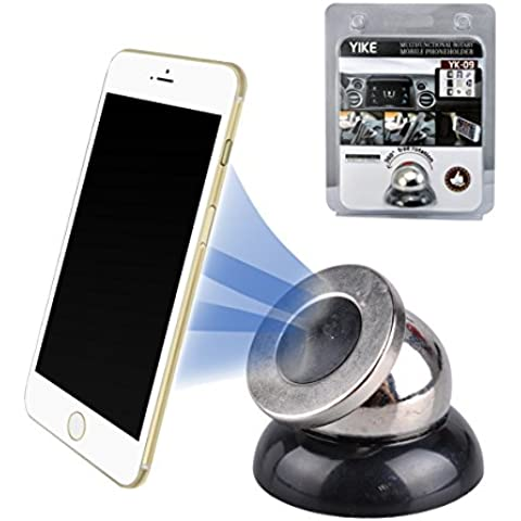 autoec Universal multifuncional 360° rotación magnética debout Mobile Phone Apoyo coche GPS
