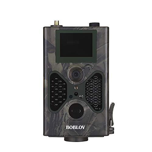 Boblov Jagdkamera Mit 8GB Wildkamera 16MP 1080P Full HD Outdoor Beutekameras IP66 Wasserdicht Nachtsicht überwachungskamera Trailkamera Profi