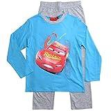 Cars Disney 3 Schlafanzug Jungen Lang Lightning McQueen (98-104, Grau-Blau)