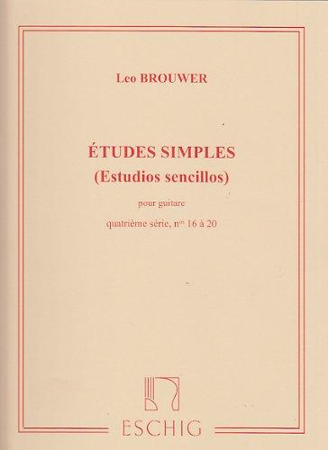 Etudes simples Volume 4 (Nos16-20) - Guitare