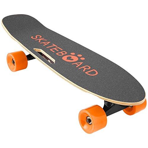 Lonlier Monopatín Eléctrico Skateboard Longboard con Altavoz Bluetooth Control Remoto Luz Delantera