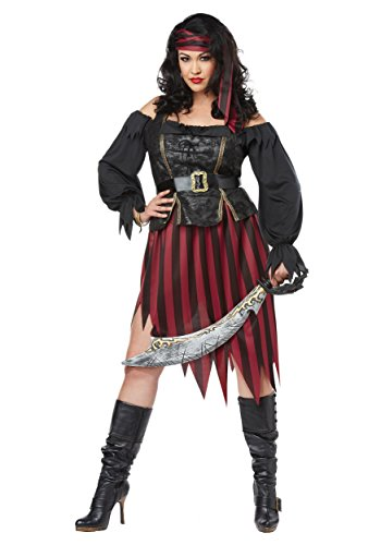Plus Size Queen of the High Seas Fancy dress costume 2X