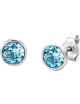 Miore Damen-Ohrstecker 925 Sterling Silber Swarovski Element