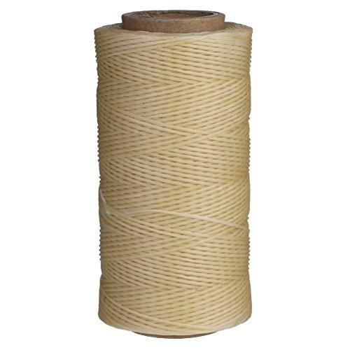 Candoran 260M Nähgarn, gewachst, 1 mm, für Ahlen, für Polstermöbel, Schuhe, Gepäck, beige (Spool Knitting Machine)