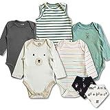 TuddyBuddy 100% Cotton Romper/Bodysuit/Onesies for Baby Boys - Pack of 5 Assorted