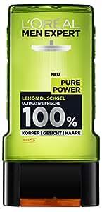 L'Oréal Men Expert Duschgel Pure Power, 2er Pack (2 x 300 ml)