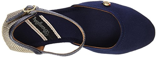 Wrangler Brava Canvas, Sandales  Bout ouvert femme Bleu - Blau (16  Navy)