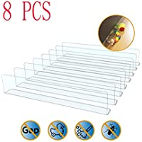 Lotoys Toy Blocker,8 PCS Gap Bumper for Under Furniture, BPA Free Safe PVC, Stop Things Going Under Sofa Couch or Bed, Easy to Install